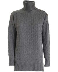 Polo Ralph Lauren Knitted Turtleneck In Gray