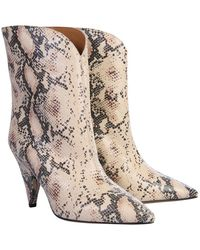 Étoile Isabel Marant Boots In Snake Print - Pink
