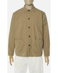 Universal Works Travail Shirt In Sand - Natural