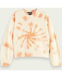 Scotch & Soda Tie Dye Sweatshirt - Natural