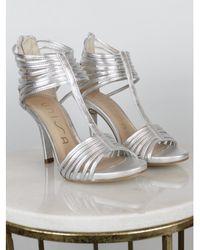 Unisa - Yusta Suede Cage Sandal Silver - Lyst