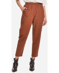 8pm - Colored Trousers Burned With Elastic Waist - Lyst