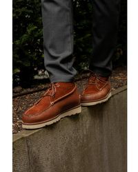 G.H. Bass & Co. Gh Camp Moc Iii Ranger Tan Leather & Suede Boots - Brown