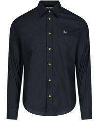 Vivienne Westwood Men's 2401002511622pin403 Black Cotton Shirt