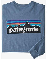 Patagonia Camiseta P-6 Logo Responsibili L/s - Pigeon Blue