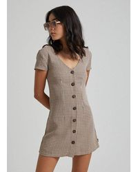 Afends London Calling Dress - Brown