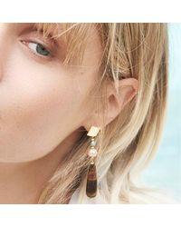 Alison Fern Jewellery Fran Earrings - Metallic