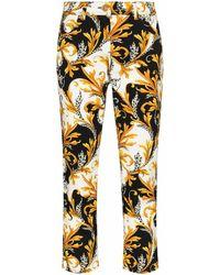 Versace Women's A87098a236024a7027 Gold Cotton Jeans - Metallic