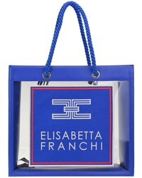Elisabetta Franchi Pvc And Eco-shopping Bag - Blue