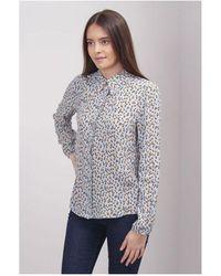 Saint Tropez Ditsy Floral Shirt Colour: Blue