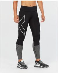 2XU - Mid-rise Reflect Compression Tights (black/silver Reflective) Women's Workout - Lyst