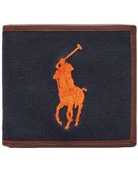 Ralph Lauren Wallet Pony Logo - Blue