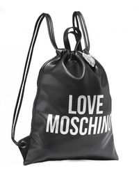 Moschino - Love Drawstring Logo Bag - Lyst