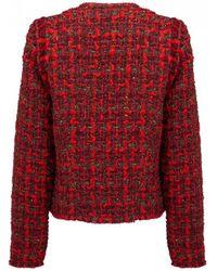 IRO - Disco Tweed Jacket In Red - Lyst
