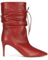Pura López Parker Red Leather Boots