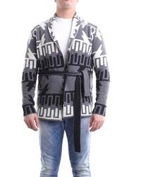 Grey Daniele Alessandrini Grey Daniele Alessandrini Grey And Black Jacket