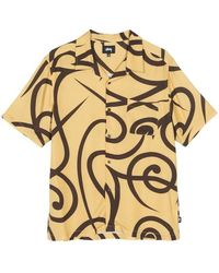 Stussy Stussy Pattern Ss Shirt Yellow