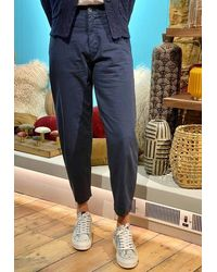 Transit Out Of The Ordinary Pants In Navy - Blue