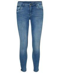 Noisy May Kimmy Denim Ankle Zip Jeans , - Blue