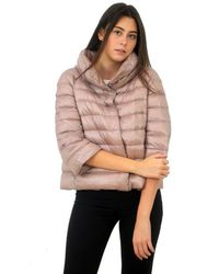 Herno Down Jacket Hood Sofia Pi0046dic Pale Pink