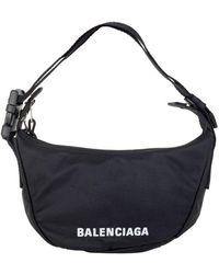 Balenciaga Wheel Small Sling Bag - Black
