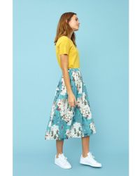 Emily and Fin - Faye Golden State Midi Skirt - Lyst
