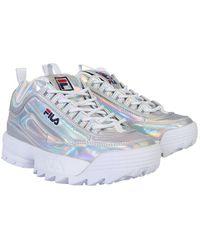 Fila Low Disruptor Laminated Sneaker - Metallic