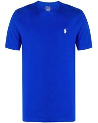 Ralph Lauren Men's 710671438137 Blue Cotton T-shirt