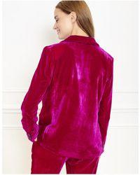 Mkt Studio Vueco Fuchsia Velvet Blazer - Pink