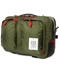 Topo Global Briefcase Olive - Green