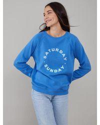 South Parade Rocky Sweatshirt - Saturday Sunday - Ocean - Blue