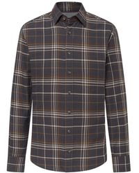 Hackett Country Estate Plaid Shirt - Brown