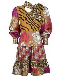 Silvian Heach Multi Print Short Dress - Multicolour
