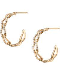 AUrate New York Open Link Diamond Hoop Earrings - Yellow