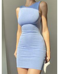 AYM Bradshaw Bodycon Mini Dress - Blue