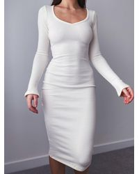 AYM Buxted Knitted Dress - White