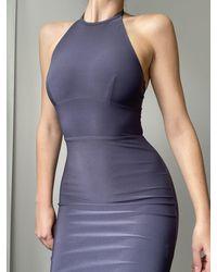 AYM Warren Midi Dress - Grey