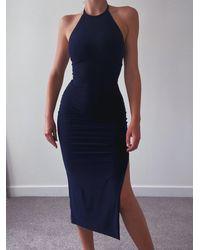 AYM Warren Midi Dress - Blue