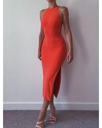 AYM Warren Midi Dress - Red