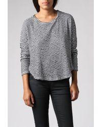 Stateside - Scoop Neck L/s Striped Sweater - Lyst