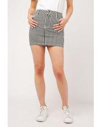Azalea - Stripe High Waist A-line Skirt - Lyst