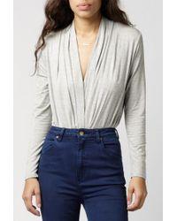 Azalea - Kimmy Draped Bodysuit - Lyst