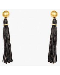 Soko - Kumi Black Tassel Earrings - Lyst