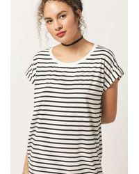 Azalea - Stripe T-shirt Dress - Lyst