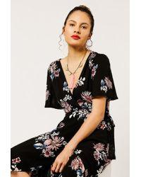 Azalea - Hi Lo Floral Wrap Dress - Lyst