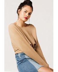 Azalea   Scoop Neck Oversized Sweater   Lyst
