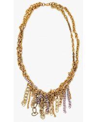 Nicole Romano - Hand Woven W/ Lav Chain Necklace - Lyst