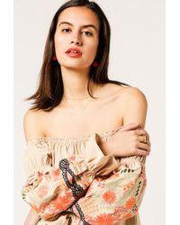 Azalea - Embroidered Tulum Off Shoulder Dress - Lyst