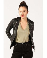 Doma Leather - Classic Leather Hooded Jacket - Lyst