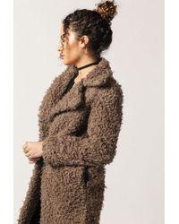 Azalea - Fluffy Overcoat - Lyst
